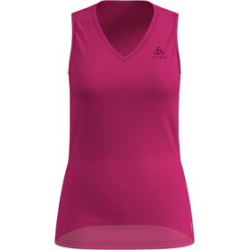 Odlo Active F-Dry Ligh Mouwloos V-hals Shirt Dames, beetroot purple